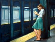 Un lector en el metro