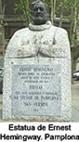 113.- Estatua de Hemingway Pamplona