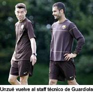 Unzué vuelve al staff técnico de Guardiola